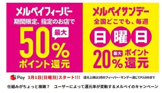 えっ?まだメルペイ使ってないの?3月は100%で3000円もらえるんだよ?